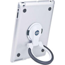 MultiStand for Various Generation iPads - Clear Shell with White and Black Ring