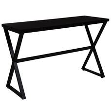Larchmont Collection Espresso Wood Finish Console Table with Contemporary Metal Legs