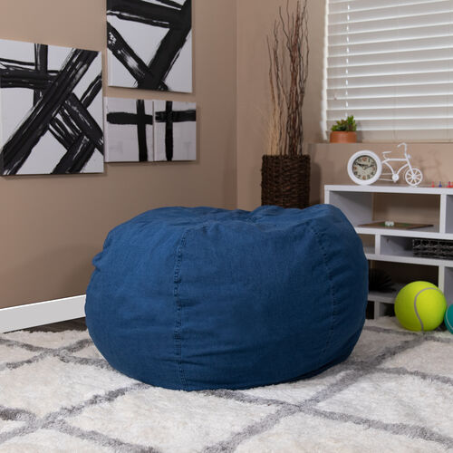 Our Oversized Denim Bean Bag Chair for Kids and Adults is on sale now.