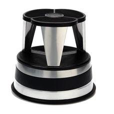 350 lb Capacity Kik Step Stool - Silvertone