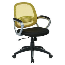 OSP Designs Bridgeport Office Chair with Screen Back - Yellow