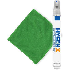 Green Hygenx Universal Cleaning Kit with Square Microfiber Cloth and Spray Bottle Cleanser - 2.5