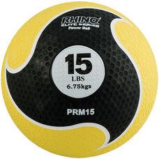 15 lbs. Rhino Elite Medicine Ball in Yellow