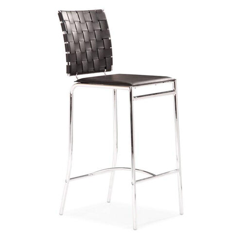 Criss Cross Counter Chair in Black