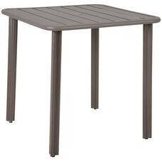 Vista Outdoor Square Aluminum Table with Umbrella Hole - Earth