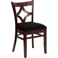 Diamond Back Side Chair in Dark Mahogany Wood Finish