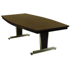Customizable Boat Shaped Director Conference Table - 30-36''W x 72''D x 30''H
