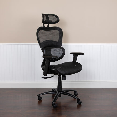 Our Ergonomic Mesh Office Chair with 2-to-1 Synchro-Tilt, Adjustable Headrest, Lumbar Support, and Adjustable Pivot Arms is on sale now.