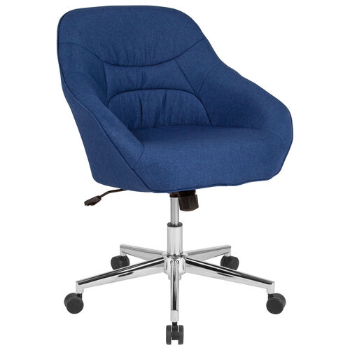 Our Marseille Home and Office Upholstered Mid-Back Chair in Blue Fabric is on sale now.