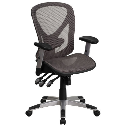 Our Mid-Back Transparent Gray Mesh Multifunction Executive Swivel Ergonomic Office Chair with Adjustable Arms is on sale now.