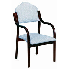 3410 Stacking Chair w/ Upholstered Back & Seat - Grade 1