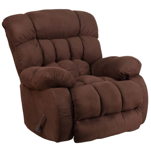 Our Contemporary Softsuede Fudge Microfiber Rocker Recliner is on sale now.