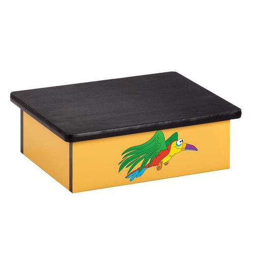 Our Rainforest Parrot Pediatric Step Stool is on sale now.
