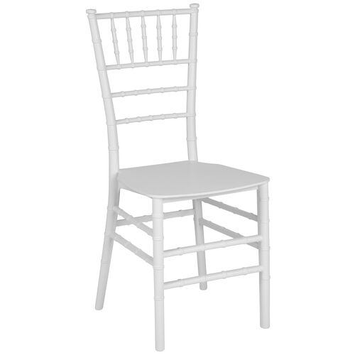 "Our HERCULES Series White Resin Stacking Chiavari Chair with <span style=""color:#0000CD;"">Free </span> Cushion is on sale now."