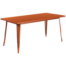 "Commercial Grade 31.5"" x 63"" Rectangular Copper Metal Indoor-Outdoor Table"