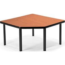 Corner Table with Five Black Legs - Cherry