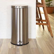 Stainless Steel Fingerprint Resistant Soft Close, Step Trash Can - 30L (7.9 Gallons)