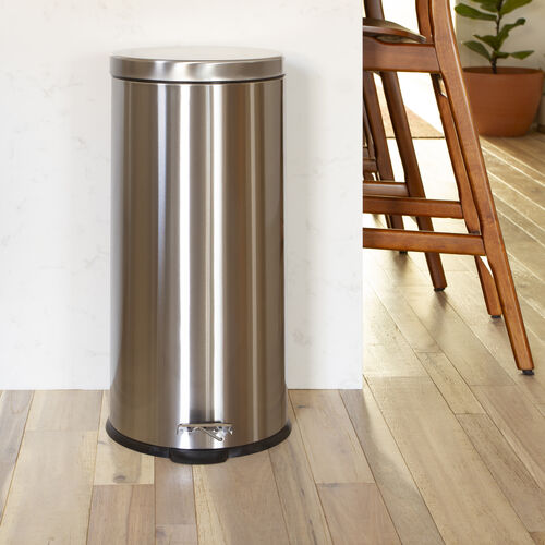 Our Stainless Steel Fingerprint Resistant Soft Close, Step Trash Can - 30L (7.9 Gallons) is on sale now.