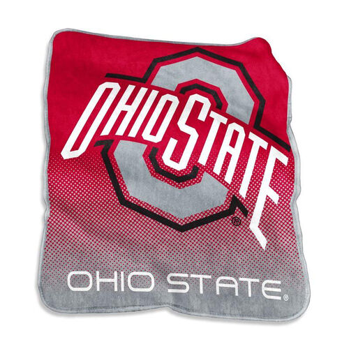 Our Ohio State University Team Logo Raschel Throw is on sale now.