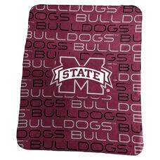 Mississippi State University Team Logo Classic Fleece Throw