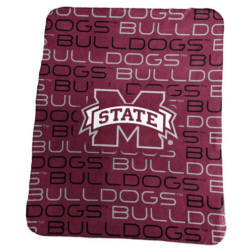 Mississippi State University Team Logo Classic Fleece Throw