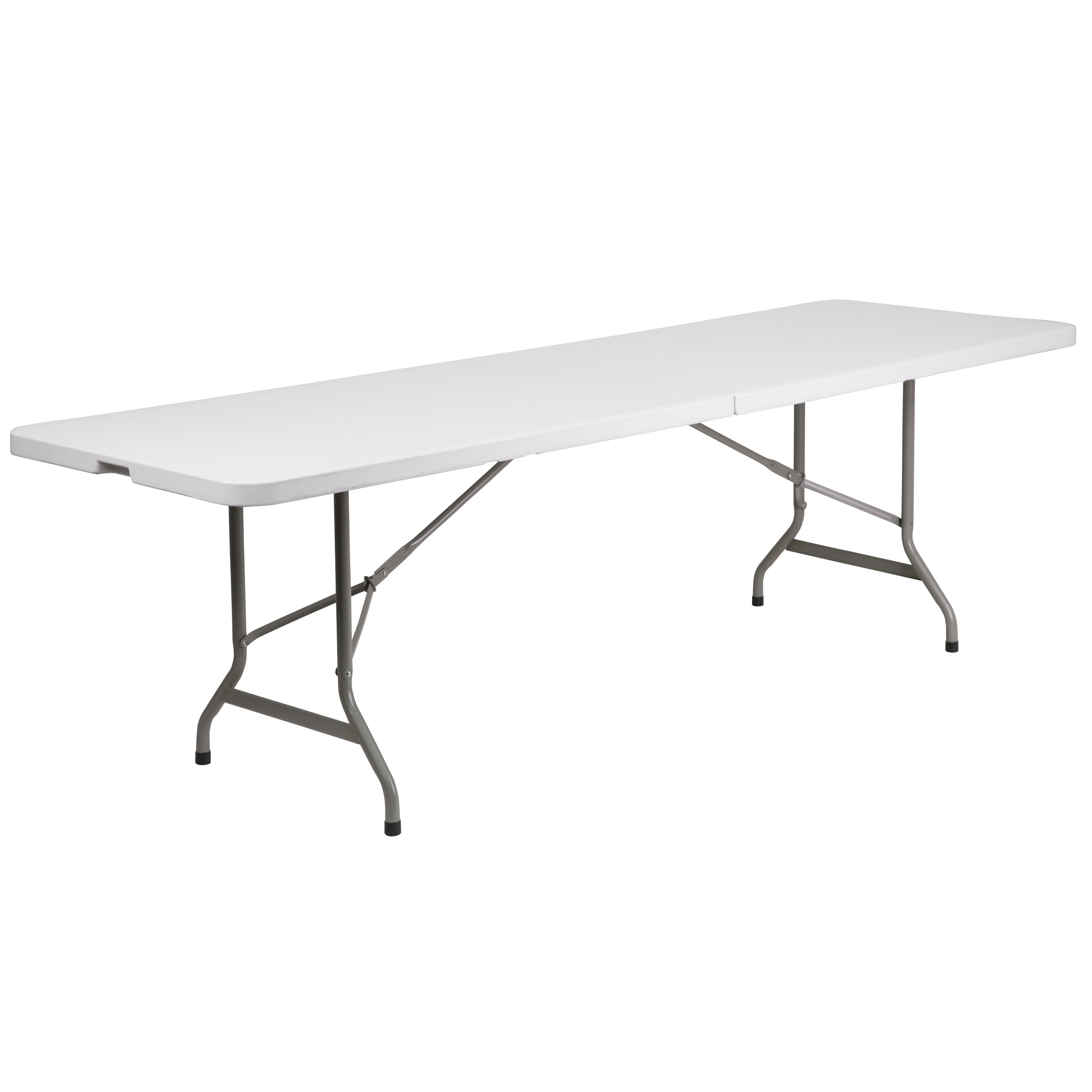 30u0027u0027W X 96u0027u0027L Bi Fold Granite White Plastic Folding Table