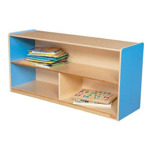 Our Blueberry Versatile Single Plywood UV Finished Storage Unit with Rolling Casters - Assembled - 48