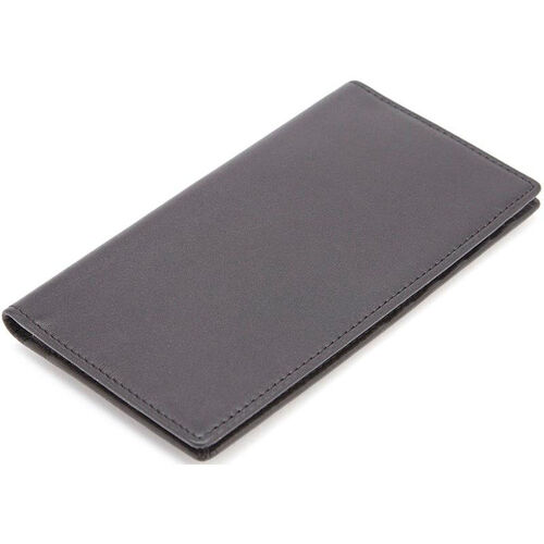 Our RFID Blocking Checkbook Secretary Wallet - Top Grain Nappa Leather - Black is on sale now.