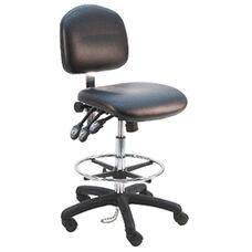 Deluxe ESD Cleanroom Class 100 - Anti Static Vinyl Chair - Nylon Base