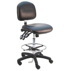 Deluxe ESD Cleanroom Class 100 - Anti Static Vinyl Chair - Nylon Base