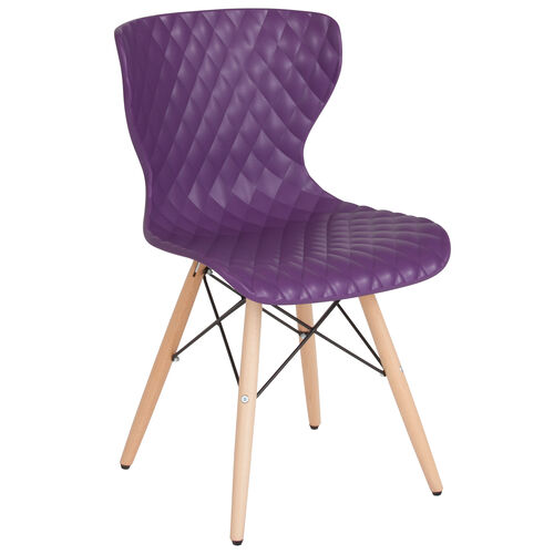 Our Bedford Contemporary Design Purple Plastic Chair with Wooden Legs is on sale now.