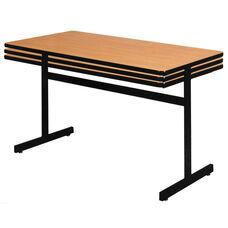 Rectangle Pedestal Base Table