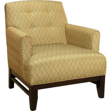 6091 Upholstered Lounge Chair w/ Tapered Wood Leg - Grade 1