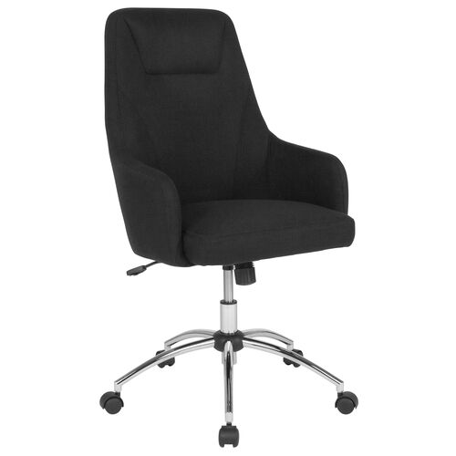 Our Rennes Home and Office Upholstered High Back Chair in Black Fabric is on sale now.