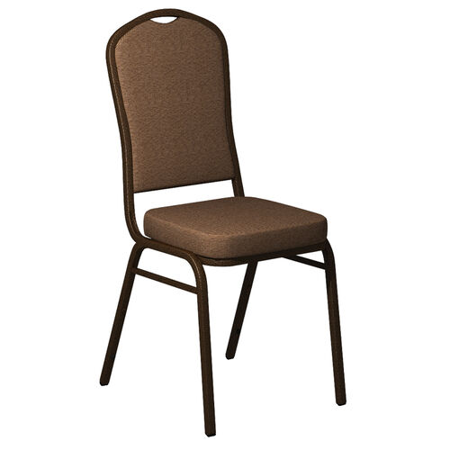 Crown Back Banquet Chair in Shire Fabric - Gold Vein Frame