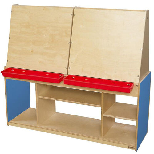 Our Blueberry Stationary Art Center for Four with Ample Storage Underneath - 50