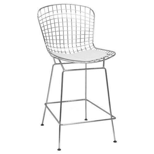 Our Chrome Wire Counter Stool with White Seat Pad is on sale now.