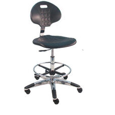 Deluxe Cleanroom Polyurethane Laboratory Chair - Aluminum Base