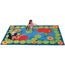 ABC Caterpillar Storytime Rectangular Nylon Rug - 53