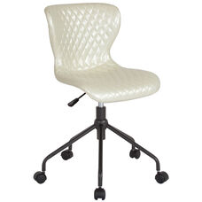 Somerset Home and Office Upholstered Task Chair in Ivory Vinyl