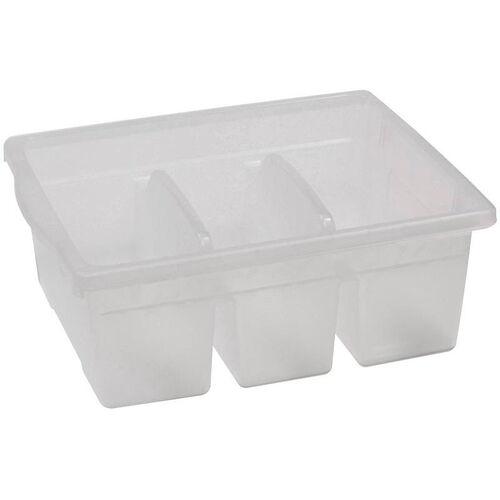 Royal Large Divided Environmentally Friendly Tough Plastic Tub - Clear - 15.63
