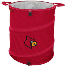 University of Louisville Team Logo Collapsible 3-in-1 Cooler Hamper Wastebasket