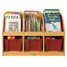 Color Essentials Two Sided Toddler Laminate Book Stand with Red Side Panels