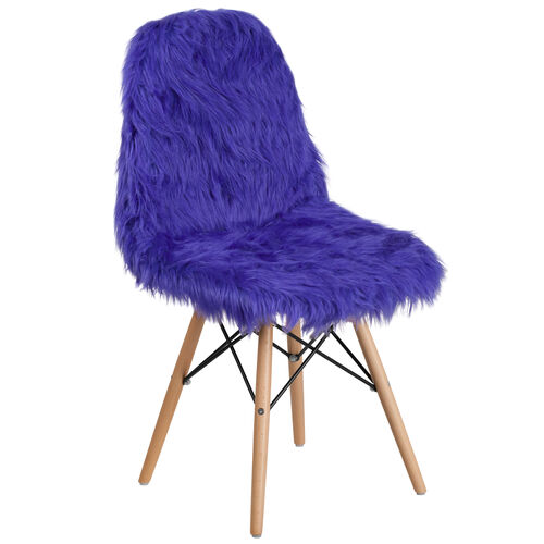 Our Shaggy Dog Dark Blue Accent Chair is on sale now.