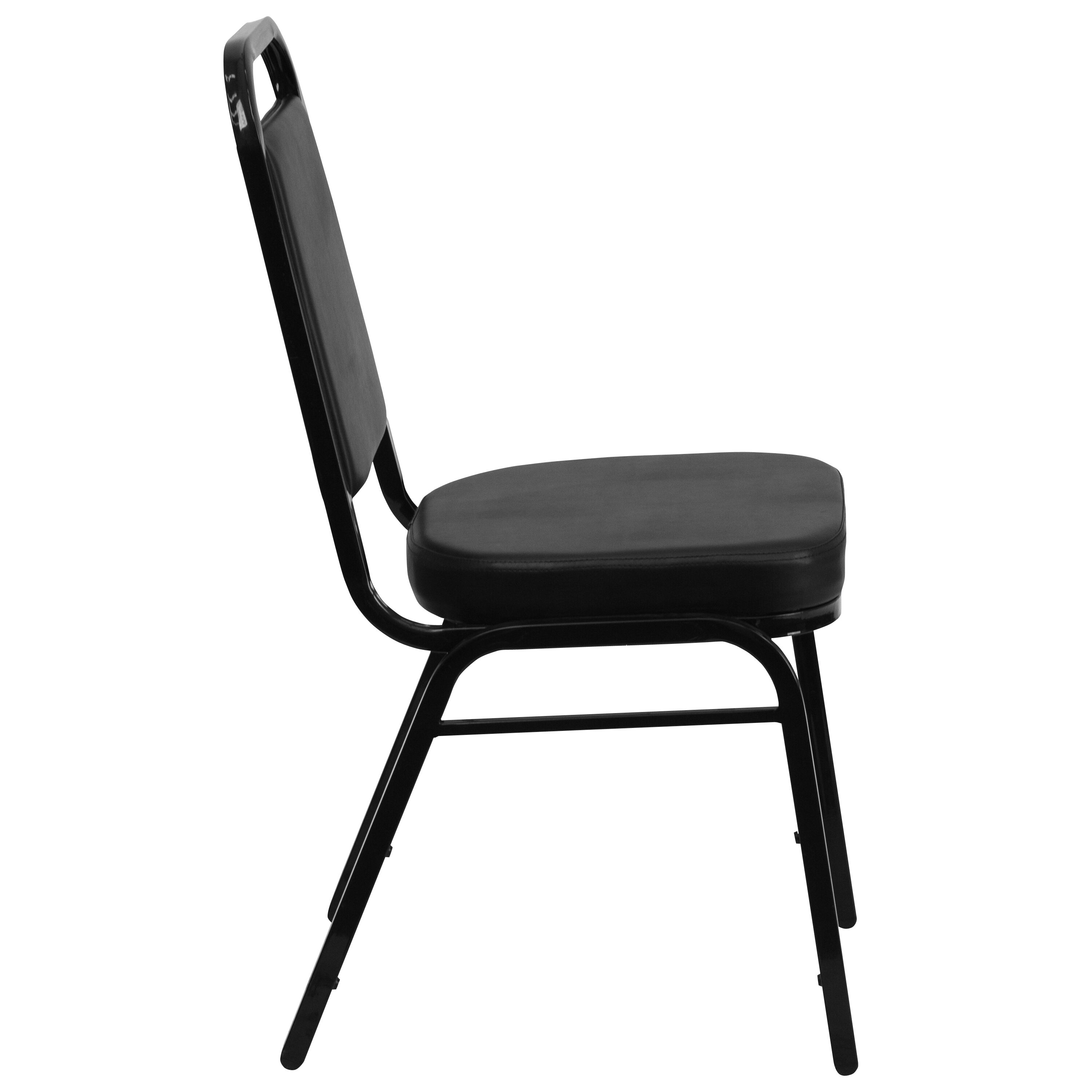 Exceptionnel ... Our HERCULES Series Trapezoidal Back Stacking Banquet Chair In Black  Vinyl   Black Frame Is On ...