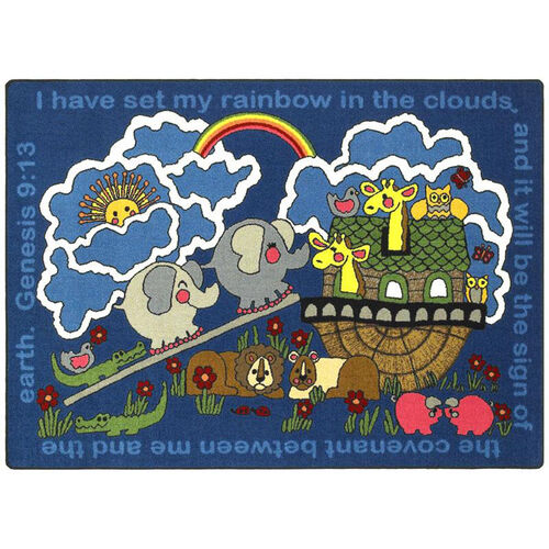 Our Rainbows Promise Rug is on sale now.