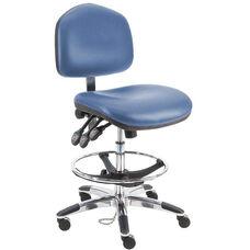Premium HD Cleanroom Class 100 Vinyl Chair - Aluminum Base