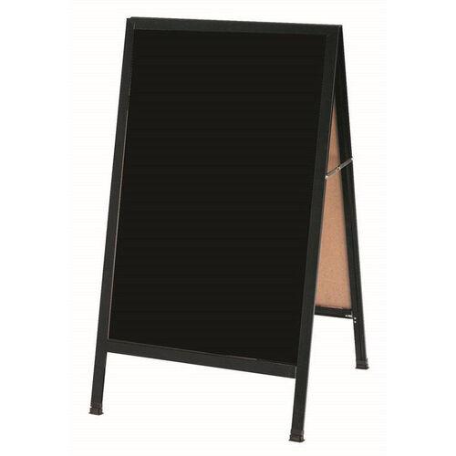 Our A-Frame Sidewalk Black Melamine Marker Board with Black Aluminum Frame - 42