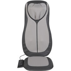 Relaxzen Full Back and Neck Shiatsu and Rolling Massager Cushion with Heat - Gray and Black
