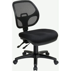 Pro-Line II Armless Ergonomic Task Chair with ProGrid® Back and Adjustable Contoured Seat - Black
